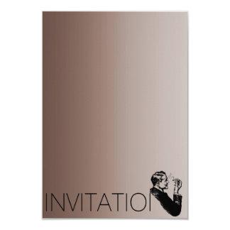 Minimalism Gentlemen Vip Cigars Man Chocolate 9 Cm X 13 Cm Invitation Card