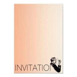 Minimalism Gentlemen Vip Cigars Man Pastel 9 Cm X 13 Cm Invitation Card