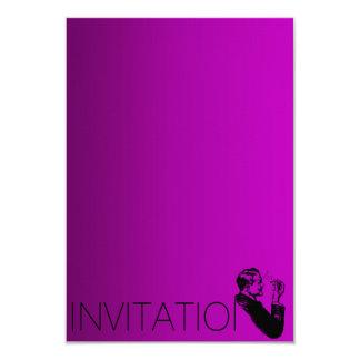 Minimalism Gentlemen Vip Cigars Man Purple 9 Cm X 13 Cm Invitation Card