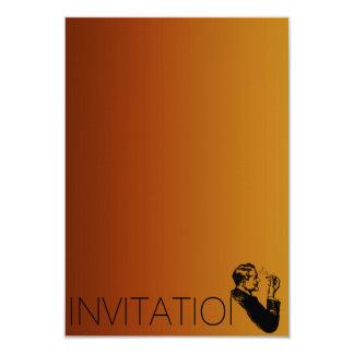 Minimalism Gentlemen Vip Cigars Man Purple Card