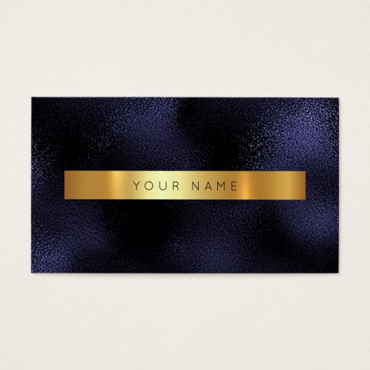 Minimalism Glam Blue Navy Gold Metallic Vip Business
