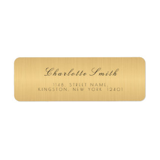 Minimalism Golden Foil Return Address Labels
