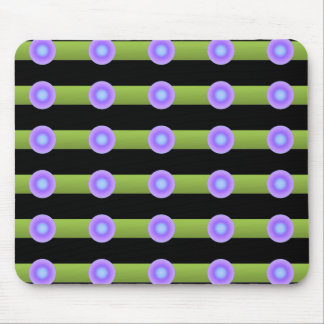 Minimalism Green and Lilac Color Mouse Mat