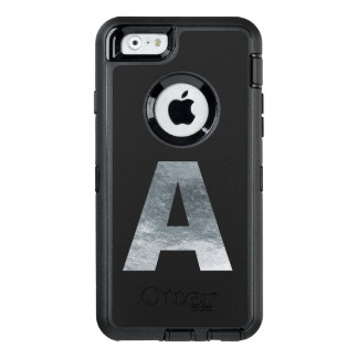 "Minimalism Initials Monogram ""A"" Grungy Gray OtterBox Defender iPhone Case"