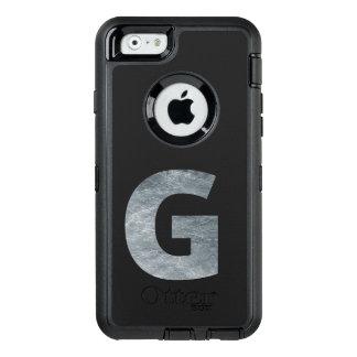 "Minimalism Initials Monogram ""G"" Grungy Silver OtterBox Defender iPhone Case"