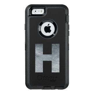 "Minimalism Initials Monogram ""H"" Grungy Silver OtterBox iPhone 6/6s Case"