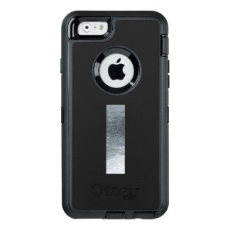 "Minimalism Initials Monogram ""I"" Grungy Silver OtterBox Defender iPhone Case"