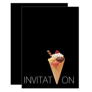 Minimalism Italian Gelato Ice-cream Party 9 Cm X 13 Cm Invitation Card