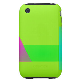 Minimalism Light Green iPhone 3 Tough Cases