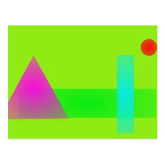 Minimalism Light Green Postcard
