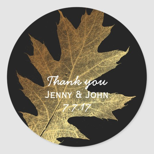 Minimalism Mint Gold Wedding Thank you Classic Round