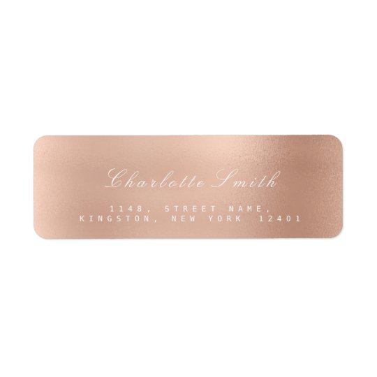 Minimalism Pink Blush Powder Return Address Labels