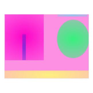 Minimalism Pink Post Card