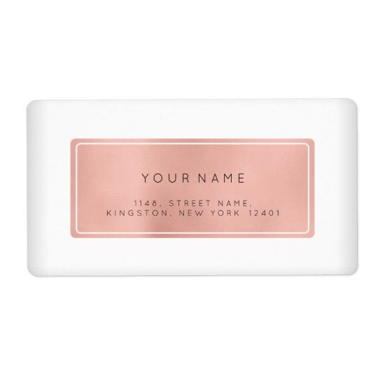 Minimalism Pink Rose Foil Return Address Labels