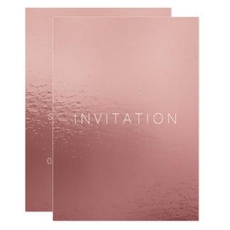 Minimalism Pink Rose Gold White Powder Card