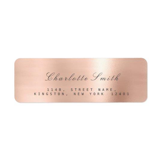 Minimalism Pink Rose Lux Return Address Labels
