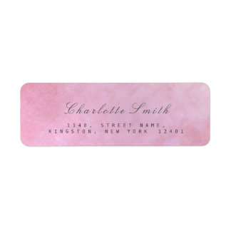 Minimalism Pink Rose Return Address Labels