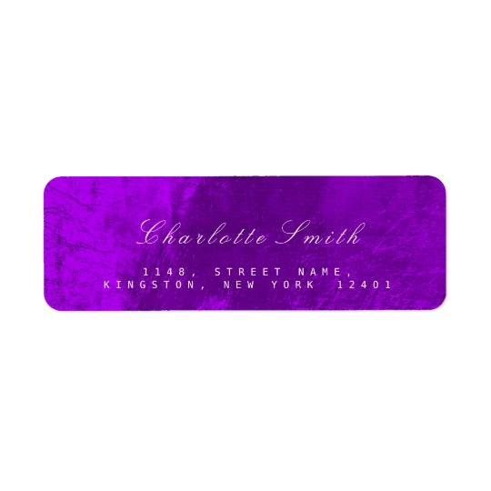 Minimalism Purple Metallic Return Address Labels