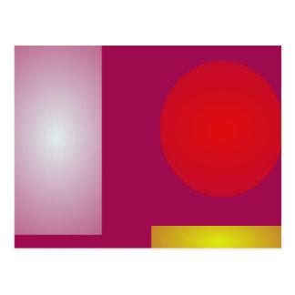 Minimalism Red Purple Post Card