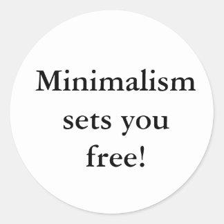 Minimalism sets you free! sticker
