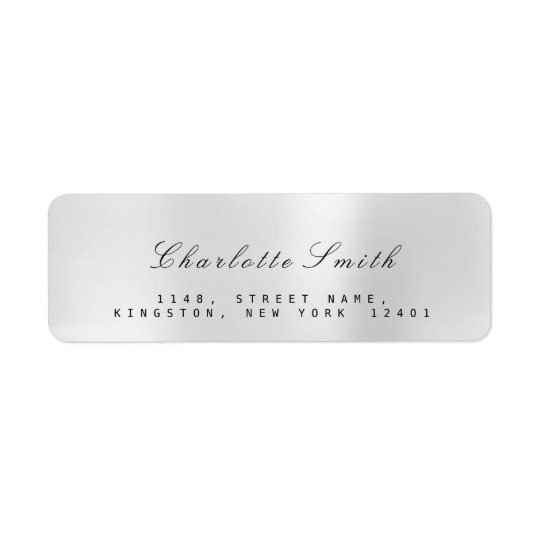 Minimalism Silver Gray Steel Return Address Labels