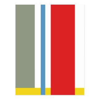 Minimalism stripes postcards