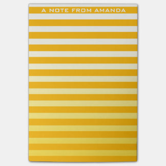 Minimalism Stripes Silver Mustard Pastel Ombre Post-it Notes