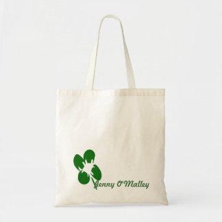 Minimalist 4 Leaf Clover Digital Painting Design Bag