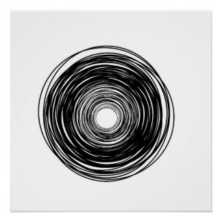 Minimalist Abstract Circle poster