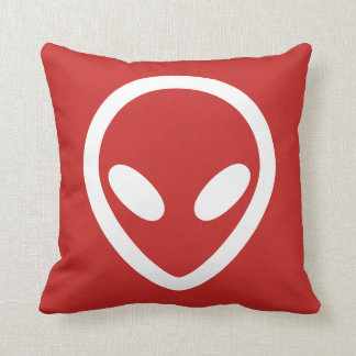 Minimalist Alien is watching you Cushion