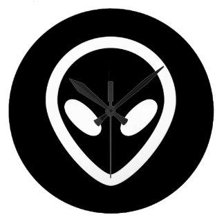 Minimalist Alien is watching you Large Clock