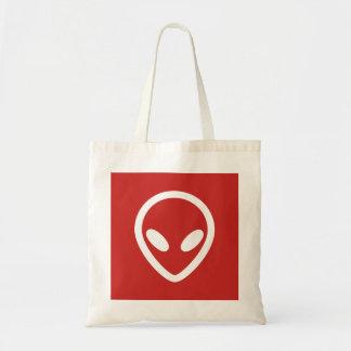 Minimalist Alien is watching you Tote Bag