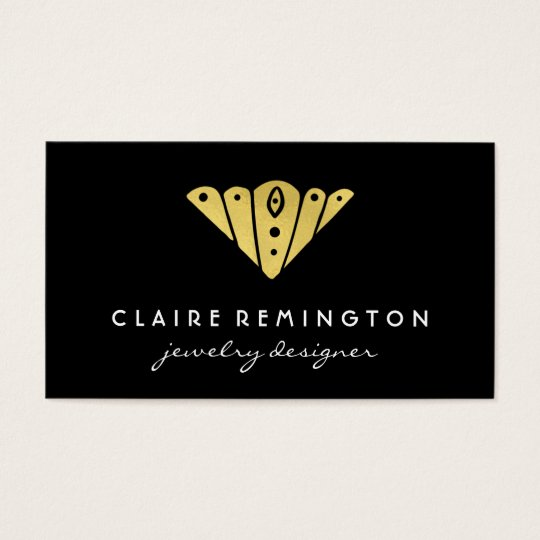 Minimalist Art Deco | Faux Gold Foil Business