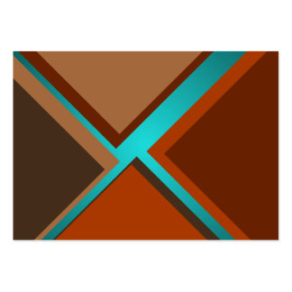 Minimalist Art Fashion Turquoise Autumn Colors 4 Pack Of Chubby Business Cards