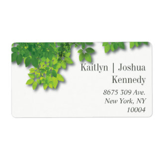 Minimalist Autumn Oak Wedding Address Shipping Label