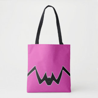 Minimalist Bat Bright Artwork Design Tote Bag