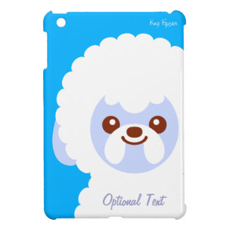 Minimalist Bichon Frise Kawaii Dog Cartoon iPad Mini Case