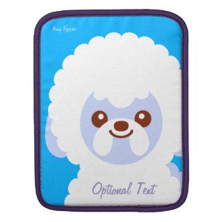 Minimalist Bichon Frise Kawaii Dog Cartoon iPad Sleeve