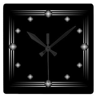 Minimalist Black and Silver Wall Clock