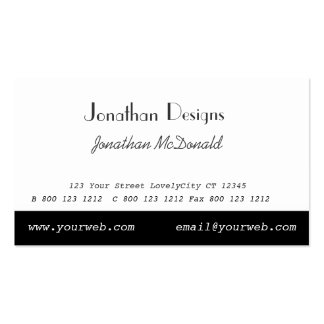 Minimalist Black and White Pack Of Standard Business Cards