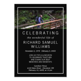 Minimalist Black - Photo - Life Celebration Card