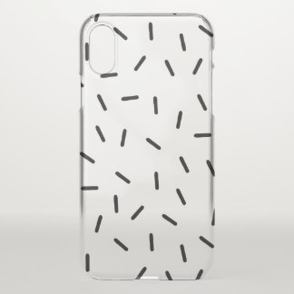 Minimalist Black Sprinkles iPhone X case - clear