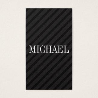 Minimalist Black Stripes with Serif Font Business Card