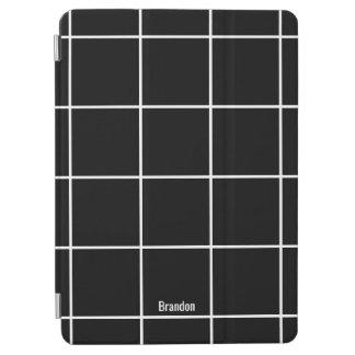 Minimalist Black & White Custom Name iPad Cover