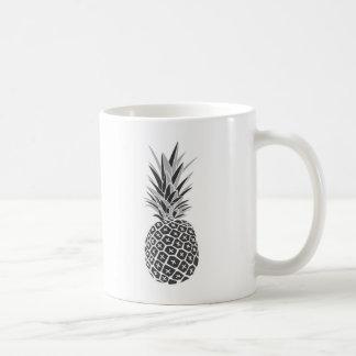 Minimalist Black & White Pineapple Coffee Mug