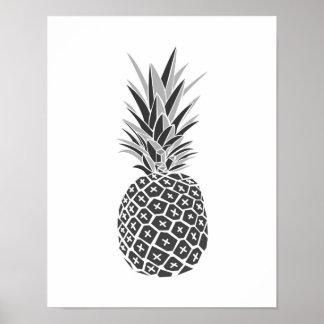 Minimalist Black & White Pineapple Poster