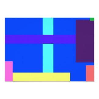 Minimalist Blue 13 Cm X 18 Cm Invitation Card