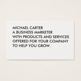 Minimalist Bold Large Text Business Card
