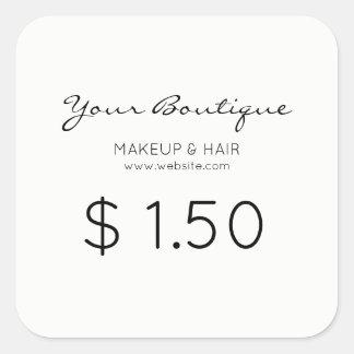 Minimalist Boutique Price Tag Square Sticker