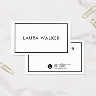 Minimalist Business Card with Border